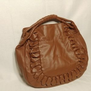 Vince Camuto Large Leather Ruffle Tote